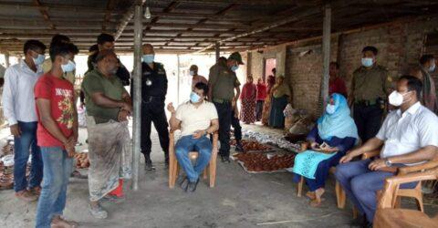 বড়াইগ্রামে ভেজাল খেজুরের গুড় তৈরী, একজনের ৩০ হাজার টাকা জরিমানা।