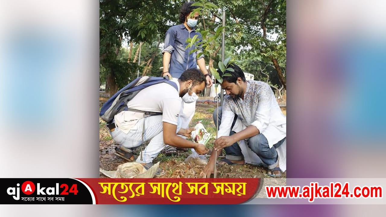 সোহরাওয়ার্দী উদ্যানে বৃক্ষরোপণ করলো বাংলাদেশ ছাত্র ফেডারেশন