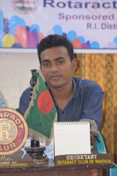 রোটার্যাক্ট ক্লাব অব নওয়াপাড়া এর সভাপতি সড়ক দুর্ঘটনায় গুরুতর আহত : সিরিয়াস লেগ ইনজুরি