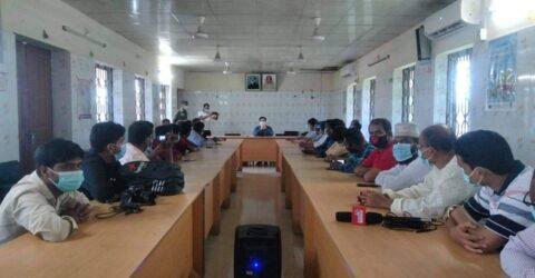 তালায় সাংবাদিকদের সাথে উপজেলা নির্বাহী অফিসারের মত বিনিময় সভা অনুষ্ঠিত