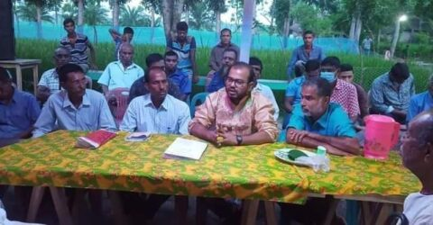কালিগঞ্জ পুজা মন্ডপ পরিদর্শন করলেন হাবিব ফেরদৌস শিমুল
